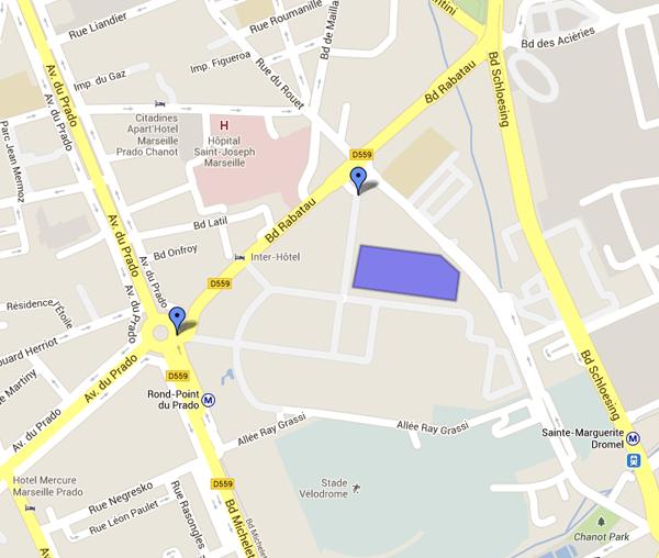 Plan accès salon ARTEMISIA - Marseille